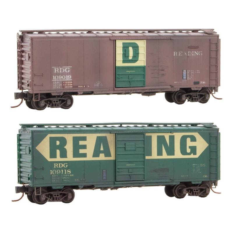 Micro-Trains N - Vagões Fechados, Envelhecidos - Set com 2: 020 44 167