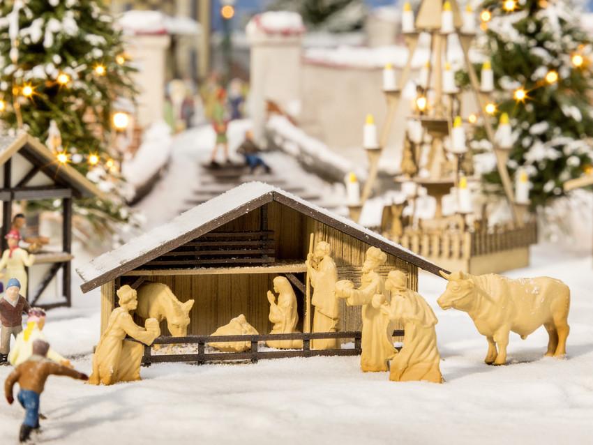 Noch - Presépio (Christmas Market Manger) - Escala HO: 14394