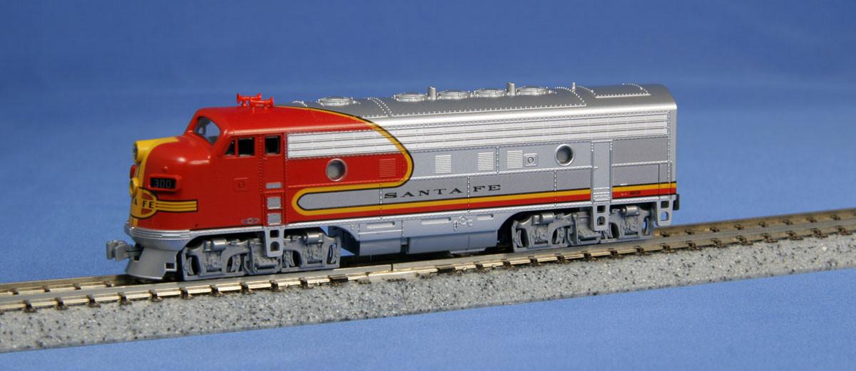 Kato N - Locomotiva F7A, Santa Fe Warbonnet #300: 176-2121