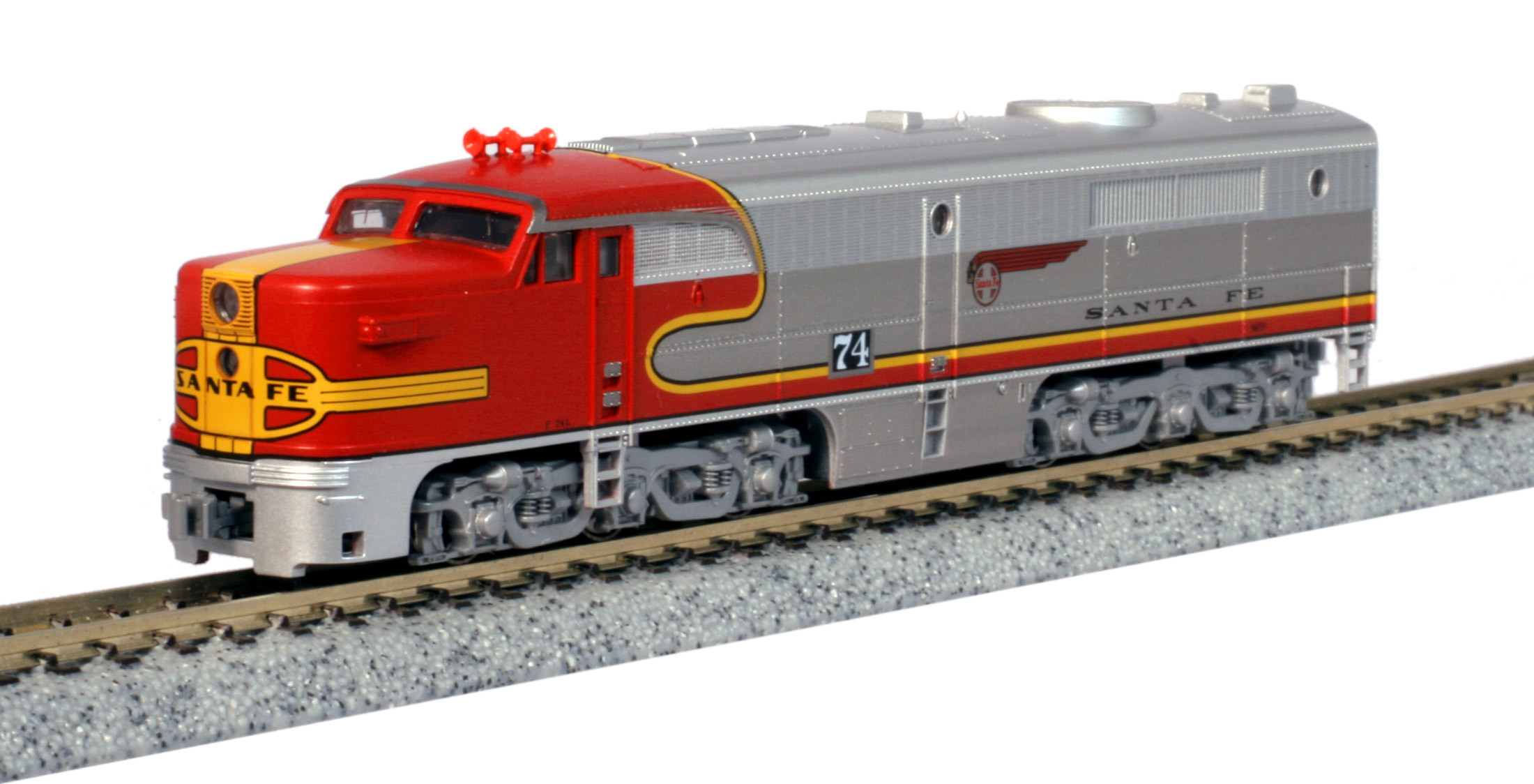 Kato N - Locomotiva ALCO PA-1, AT SF Warbonnet #74L: 176-4121