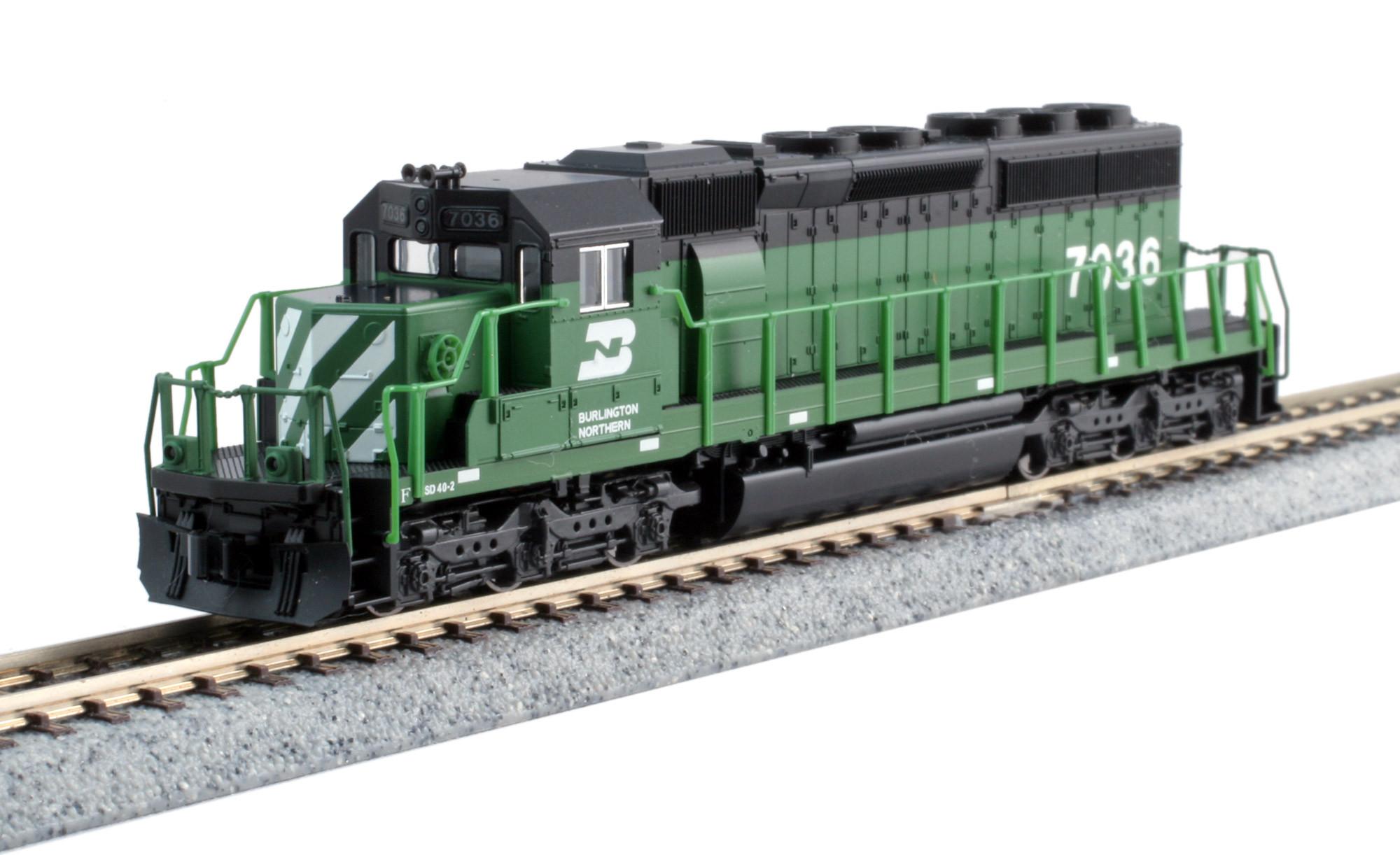 Kato N - Locomotiva SD40-2 BN #7036: 176-4961