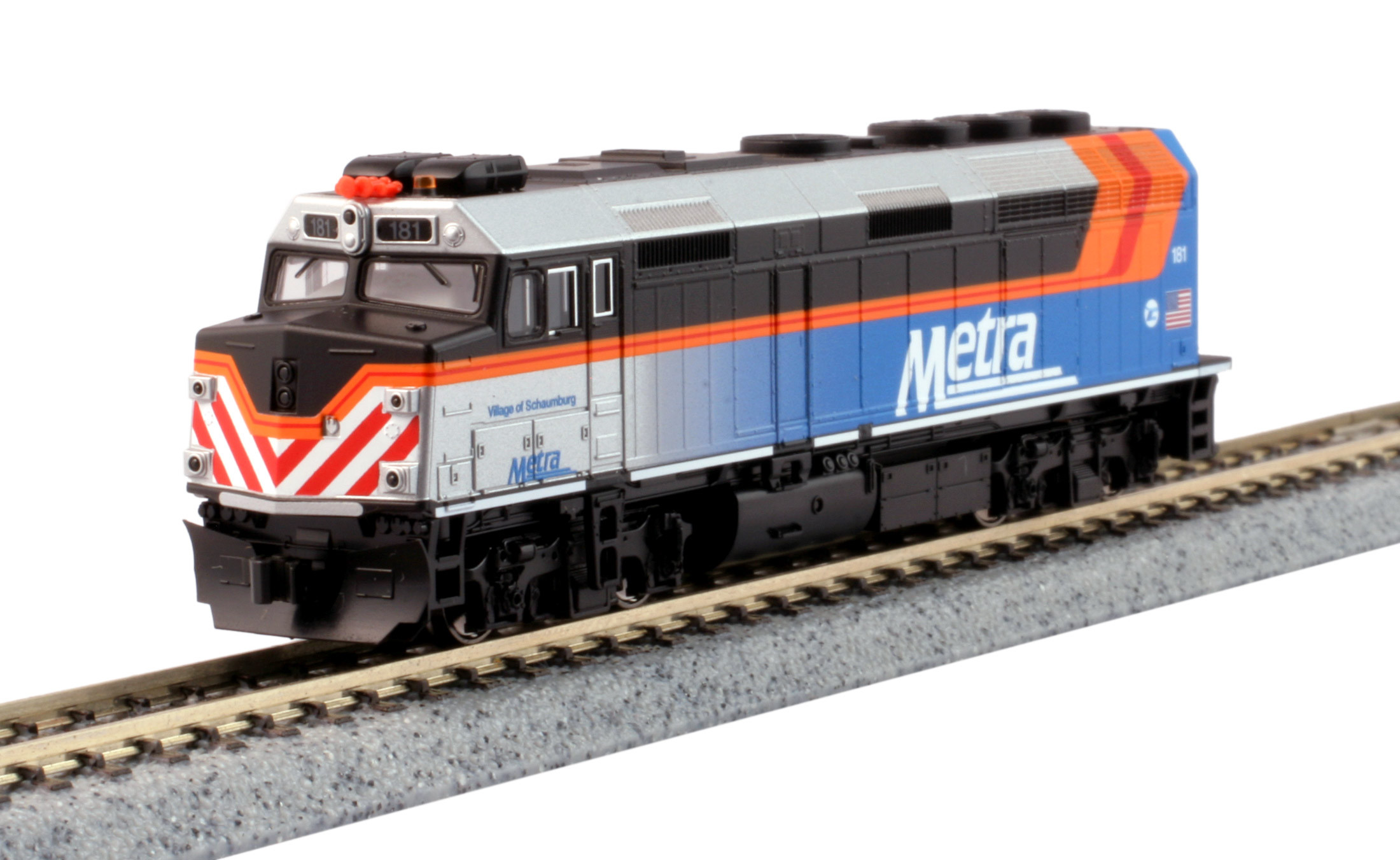 Kato N - Locomotiva EMD F40PH Chicago Metra #181: 176-9106