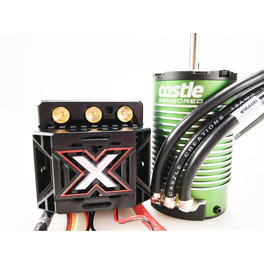 Castle - Mamba Monster X Sensored  ESC + Motor: 1512-2650Kv - 1:8