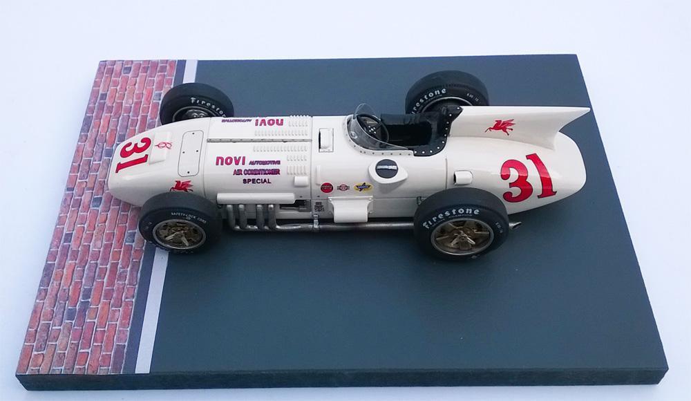 Ostorero Estático - Kurtis Novi 8V #31 J.R. Davis, Indy 500 1956: DGO101