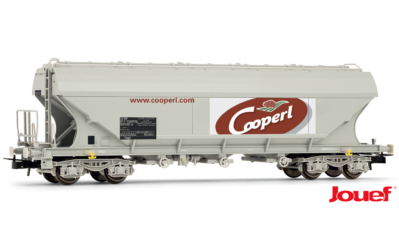 """Jouef HO - Vagão Hopper Lateral Reta """"Cooperl"""" SNCF - HJ6159"""