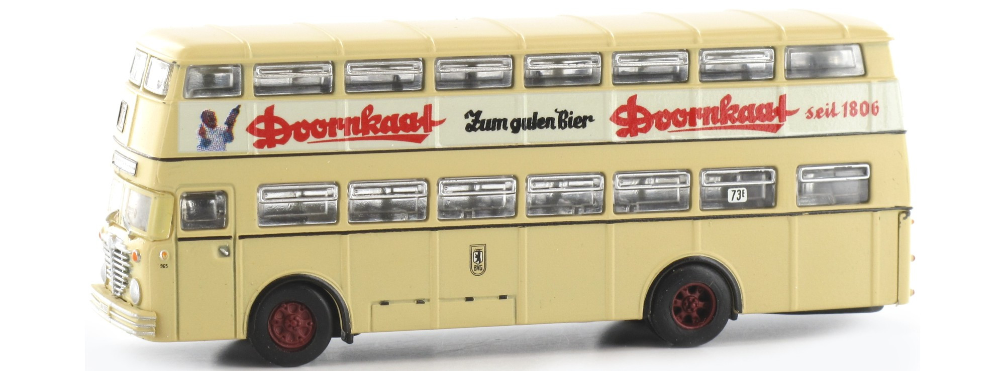 Minis / Lemke - Ônibus de 2 Andares, D2U BVG Doornkaat (N): LC4401