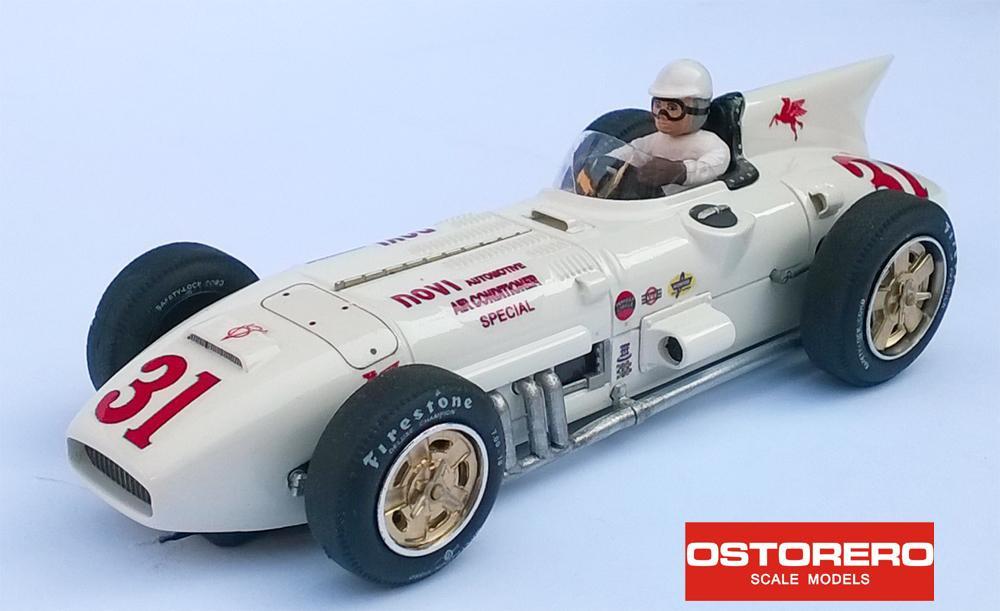 "Ostorero - Kurtis - Novi 8V - #31 J.R. ""Jimmy"" Davies, Indi 500 1956: ODG 251"