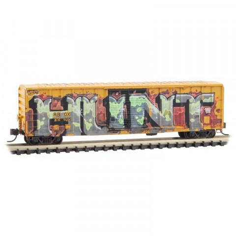 Micro-Trains N - Vagão Fechado, Envelhecido e Grafitado: 025 45 562