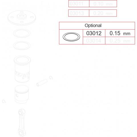 Novarossi - Juntas de Cabeçote, Motor 3,5cc; 0,15mm em Cobre - NV-03012