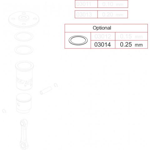 Novarossi - Juntas de Cabeçote, Motor 3,5cc; 0,25mm em Cobre - NV-03014