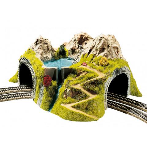 Noch - Túnel em Curva, Pista Dupla - Escala HO: 05180