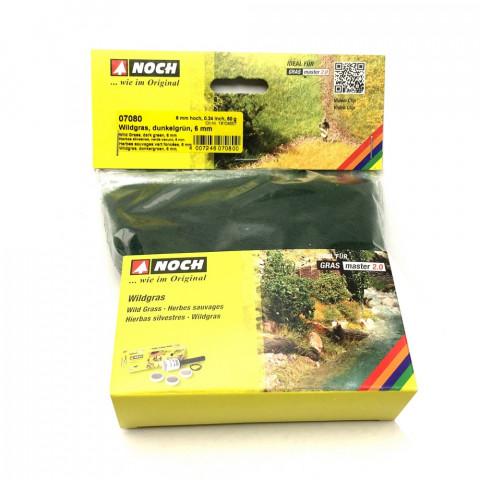 Noch - Grama Silvestre em Fibras, Verde Escuro - Multi Escala: 07080