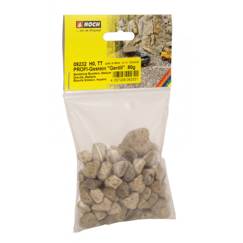 Noch - Profi-Rocks, Cascalho (Rubble) Grossa, Multi Escala - 80g: 09232