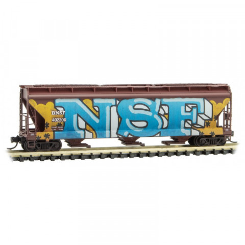 Micro-Trains N - Vagão Hopper BNSF, Grafitado: 094 44 430