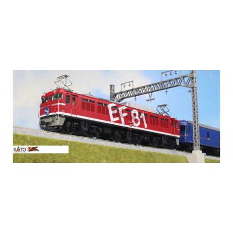 """Kato HO - Locomotiva Elétrica EF81-95 """"Rainbow"""": 1-322"""