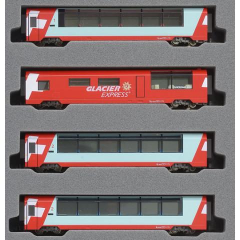 Kato N - Glacier Express 4 Car Add-On Set: 10-1146