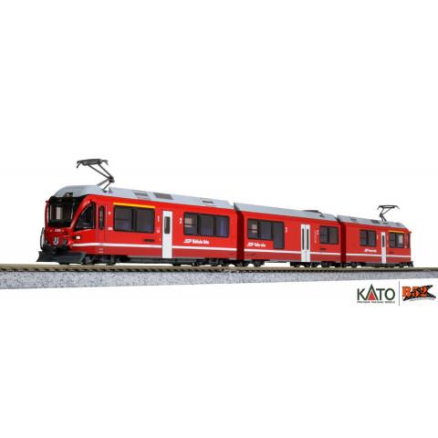"""Kato N - Rhätische Bahn """"Allegra"""", 3 Car Set: 10-1273"""