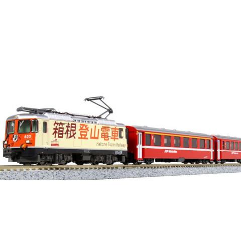 """Kato N - Glacier Express """"Hakone Tozan Railway"""", 3 Car Set: 10-1514"""