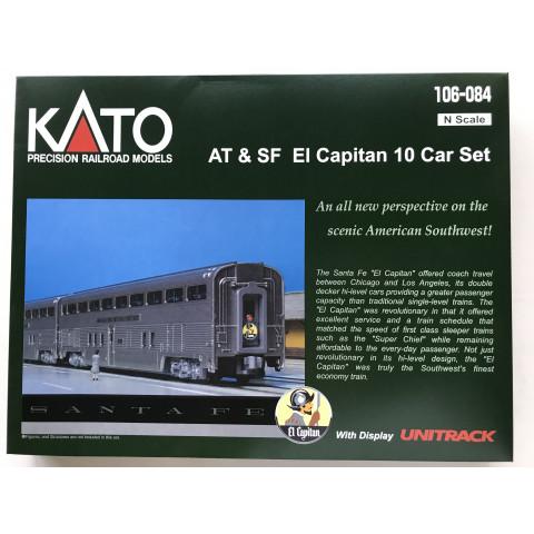 Kato N - Santa Fe El Capitan 10 Car Set: 106-084