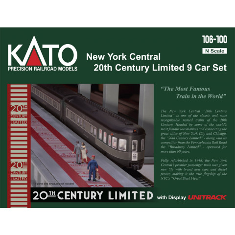 "Kato N - NYC ""20th Century Limited"" 9 Car Set: 106-100"