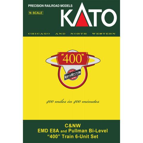 Kato N - Chicago North Western, 6 Unit Set: 106-104