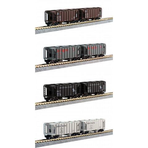 Kato N - ACF Hopper Fechado (Covered Hopper) 8 Car Set: 106-4700