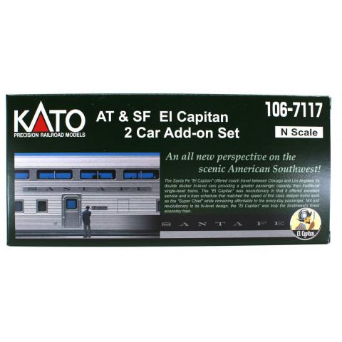 Kato N - Santa Fe El Capitan 2 Car Set: 106-7117