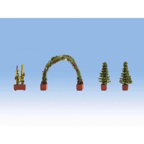 Noch - Roseira em Arco e Vasos - Escala HO: 14022