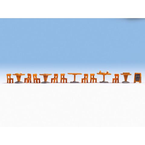 Noch - Mobília para Restaurante (Restaurant) - Escala HO: 14822