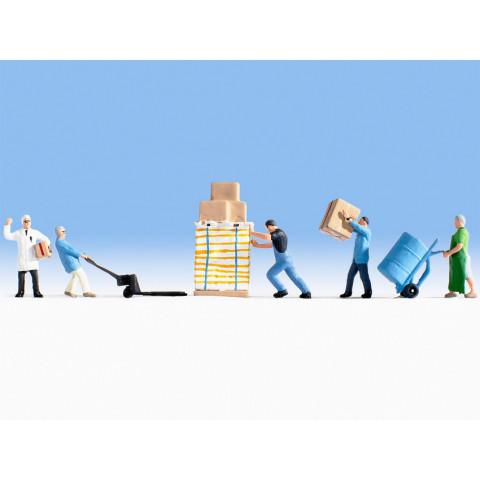 Noch - Operários de Armazém (Warehousemen) - Escala HO: 15038