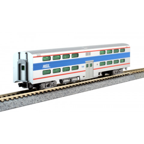 Kato N - Gallery Bi-Level Coach Chicago Metra #7836: 156-0970