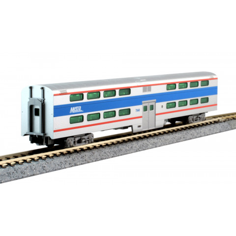 Kato N - Gallery Bi-Level Coach Chicago Metra #7848: 156-0971