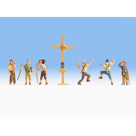 Noch - Alpinistas (Mountain Hikers with Cross) - Escala HO: 15874
