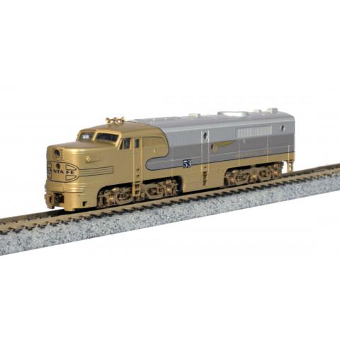 Kato N - Locomotiva ALCO PA-1, AT SF Goldbonnet #53L: 176-053L