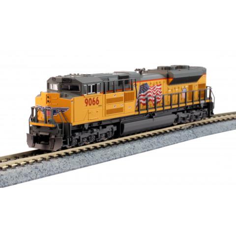 Kato N - Locomotiva SD70ACe UP  #9066 - Flag: 176-8521-DCC