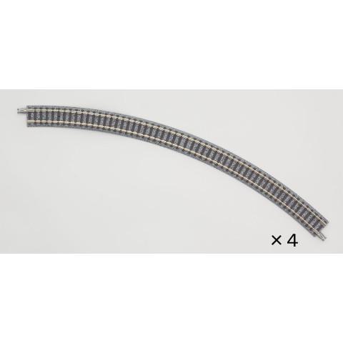 TOMIX - Trilho Curva de Pista Simples R354-45°: 1856