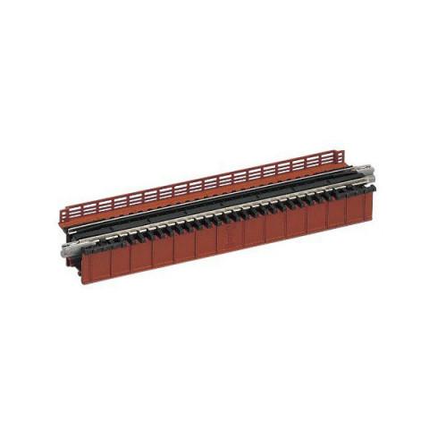 """Kato N - Ponte """"Deck Plate Girder"""", de Pista Simples - Vermelha: 20-460"""