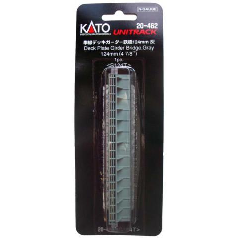 "Kato N - Ponte ""Deck Plate Girder"", de Pista Simples - Cinza: 20-462"