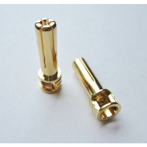 "TQ - Plug ""Bullet"" Gold 5mm (Tall/Flat-Top) - TQ2508"