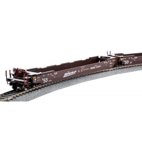 "Kato HO - Gunderson MAXI-IV, BNSF ""Swoosh"" #253411: 30-9054"