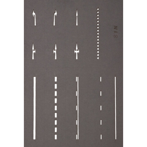Noch - Gabaritos de Sinalização (Street Marking Templates) - Escala N: 34240