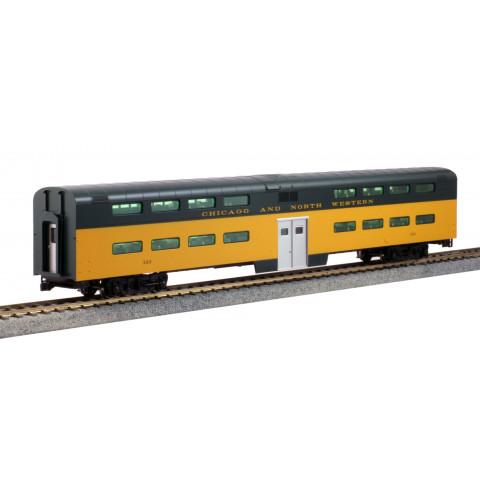 Kato HO - Pullman Bi-Level 4-Window Coach Chicago e North Western #310: 35-6037