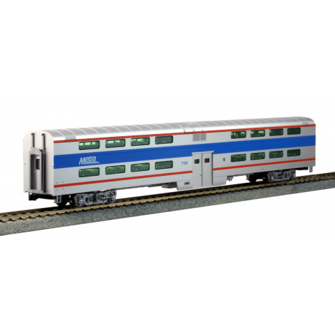 Kato HO - Pullman Bi-Level 4-Window Coach Chicago Metra #7780: 35-6038