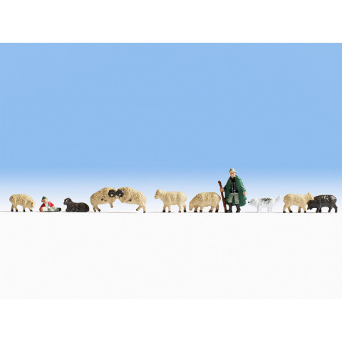 Noch - Pastor e Ovelhas (Shepherd and Sheep) - Escala N: 36750