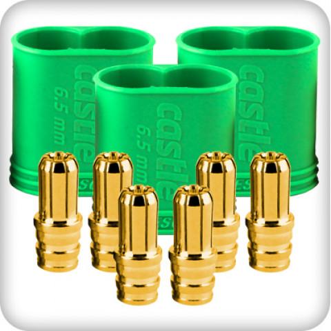 Castle - CC Connector - Macho 6.5 mm - Multi-Pack - Polarizado: 011-0068-00