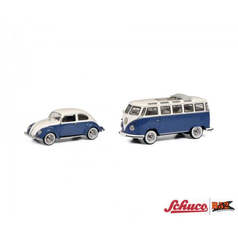 Schuco - VW Fusca e Kombi, conjunto - 1:43: 450269300