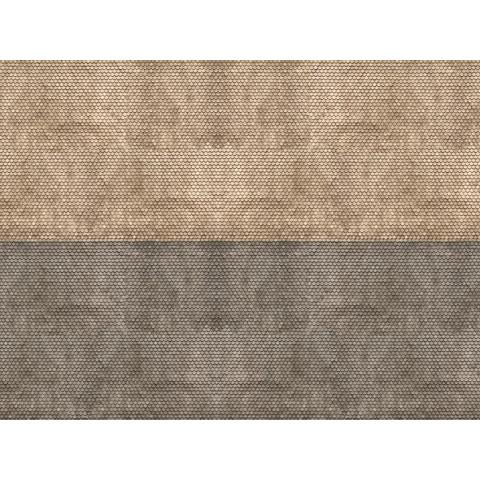 Noch - Folha de Textura 3D, Telhado Plano - Escala N: 56971