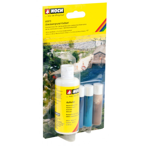 Noch - Kit de Pintura para Base de Rios (Riverbed Colour Set): 60875