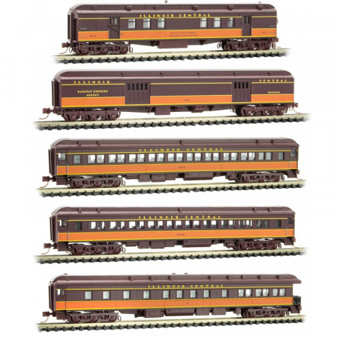 Micro-Trains N - Illinois Central Heavyweight 5 Pack