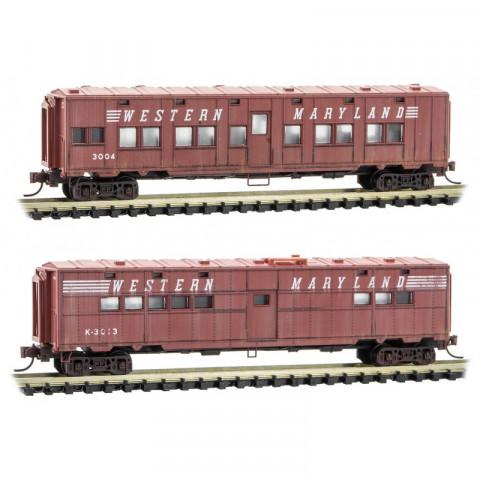 Micro-Trains N - Carros Western Maryland, Envelhecidos - Set com 2: 993 05 570